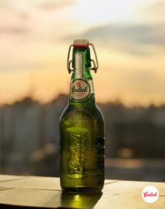 Sam Wright Grolsch Enrique Bottle Portrait Logo